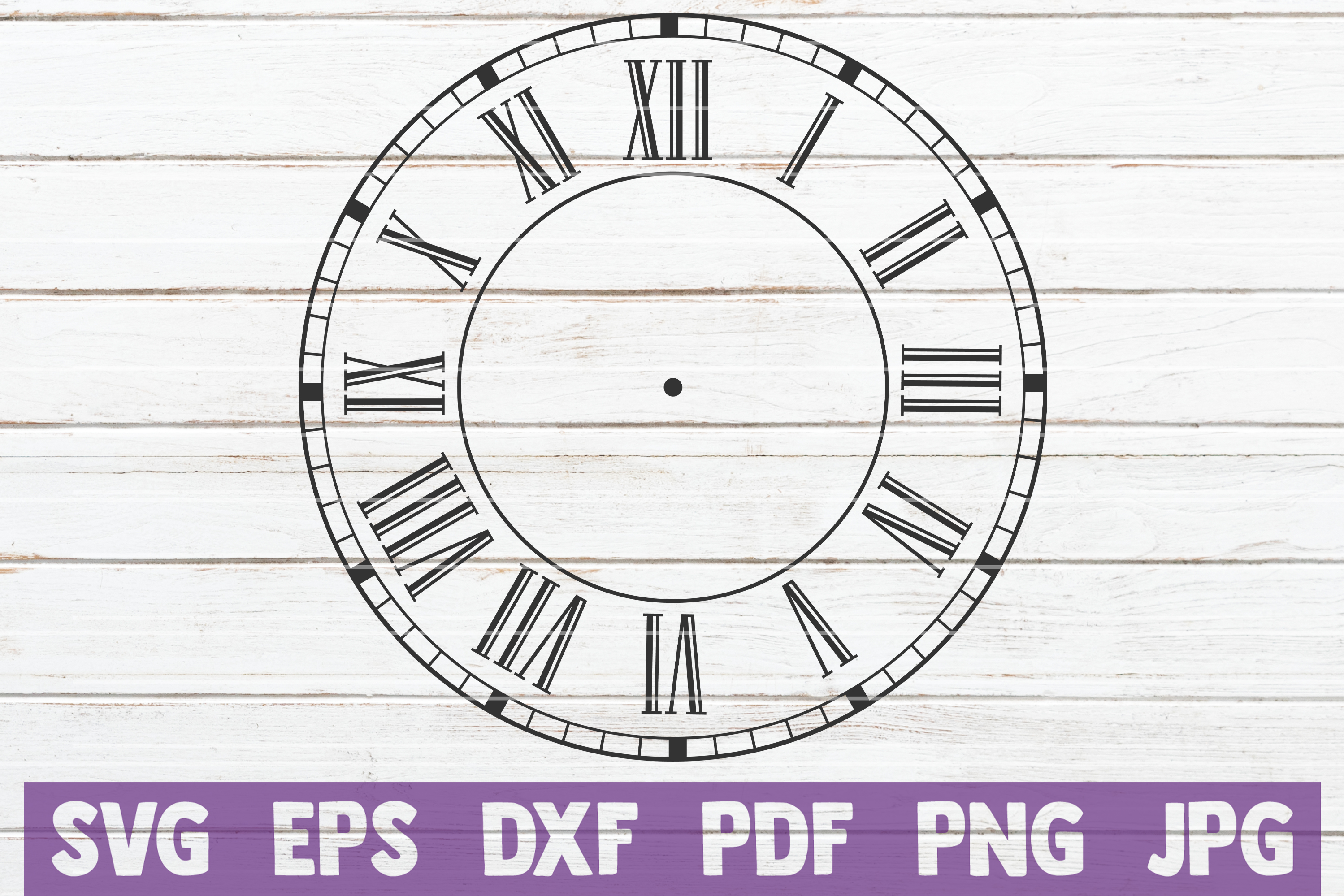 Download Free Clock Face Cut File Graphic By Mintymarshmallows Creative Fabrica for Cricut Explore, Silhouette and other cutting machines.