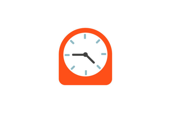 Clock Fill Icon Graphic By Home Sweet