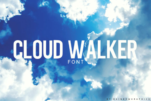 Print on Demand: Cloud Walker Sans Serif Font By RainbowGraphicx