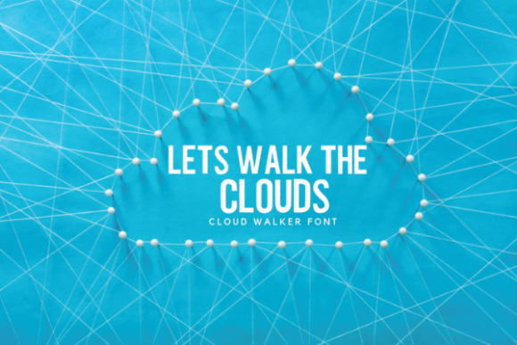 Cloud Walker Font By RainbowGraphicx  Image 2