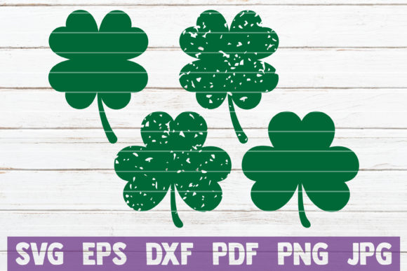 Download Free Clovers Bundle Graphic By Mintymarshmallows Creative Fabrica for Cricut Explore, Silhouette and other cutting machines.