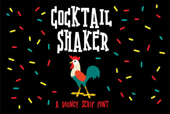 Print on Demand: Cocktail Shaker Serif Font By Illustration Ink