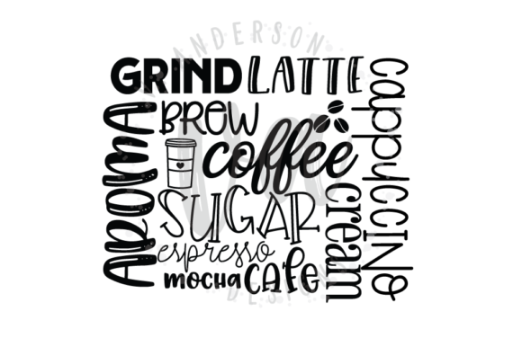 Download Free Coffee Subway Art Svg Graphic By Vandersondesigns Creative Fabrica for Cricut Explore, Silhouette and other cutting machines.