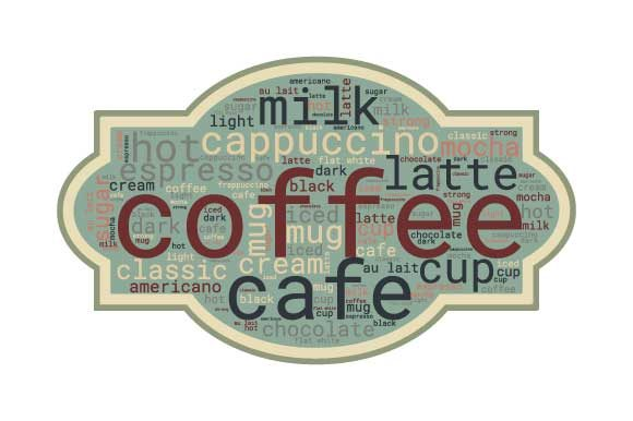 Download Free Coffee Word Art Vector Graphic By Graphicsfarm Creative Fabrica for Cricut Explore, Silhouette and other cutting machines.