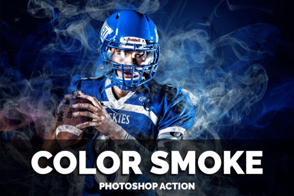Color Smoke Photoshop Action Graphic Add-ons By jubair_haider