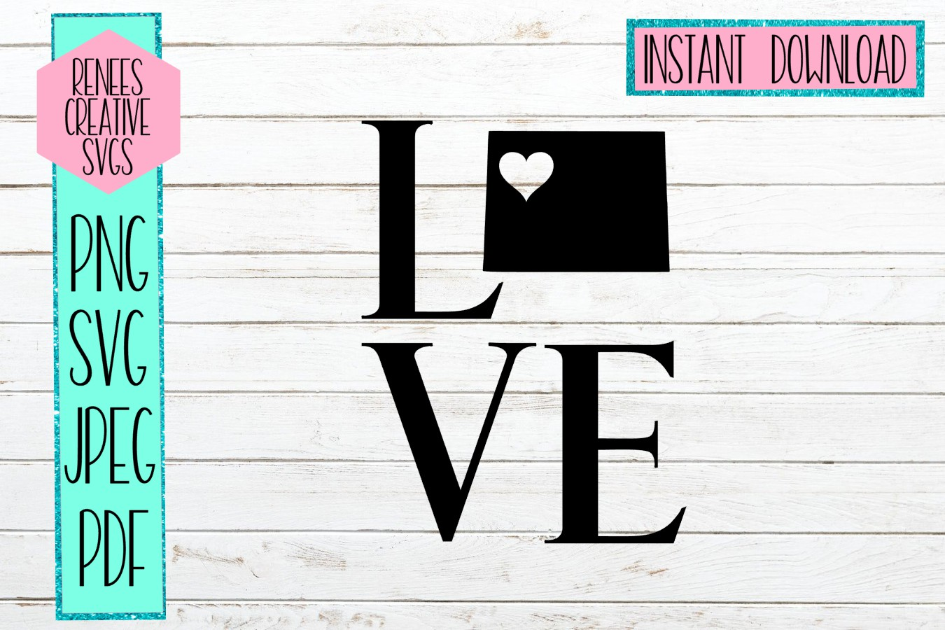 Download Free Colorado Love With Heart Graphic By Reneescreativesvgs for Cricut Explore, Silhouette and other cutting machines.