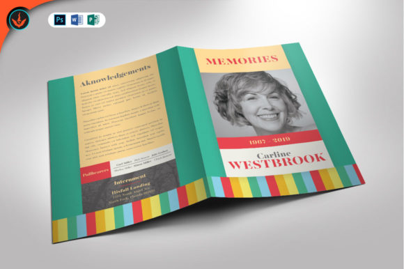 Colorful Funeral Program Template Graphic By seraphimchris