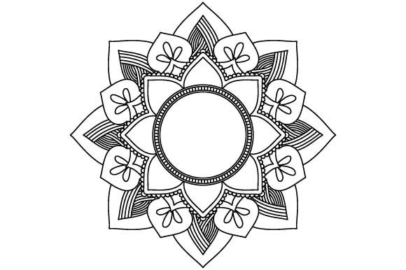 Download Free Coloring Page Empty Mandala Graphic By Graphicsfarm Creative for Cricut Explore, Silhouette and other cutting machines.