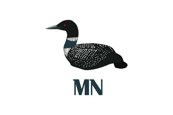 Common Loon Mn Svg Cut File By Creative Fabrica Crafts
