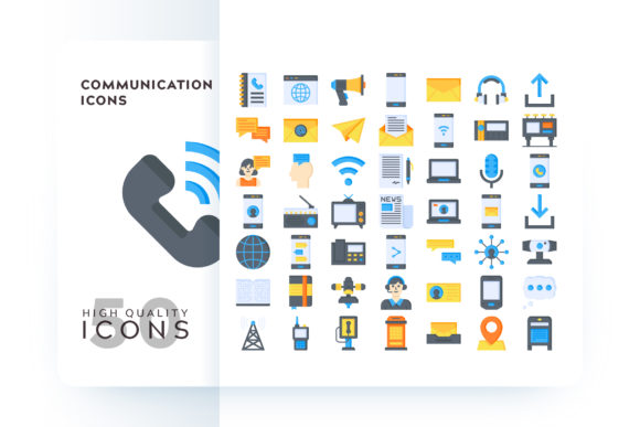 Communication Icons Graphic By Goodware.Std