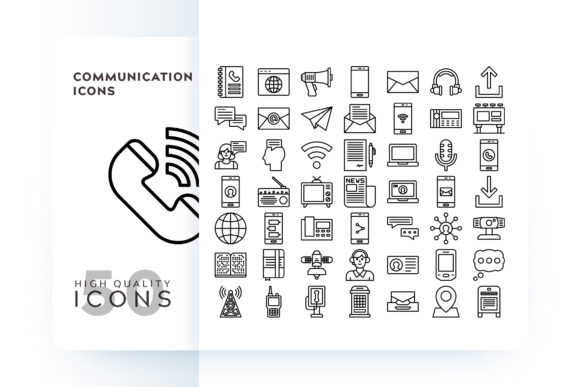 Print on Demand: Communication Icons Graphic Icons By Goodware.Std