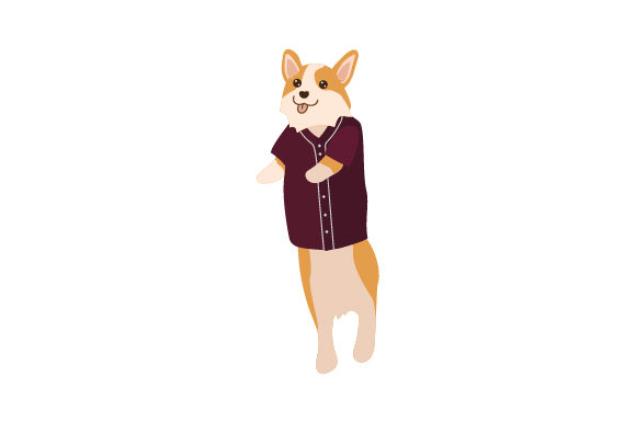 Corgi Wearing Baseball Jersey Hunde Craft Cut File von Creative Fabrica Crafts