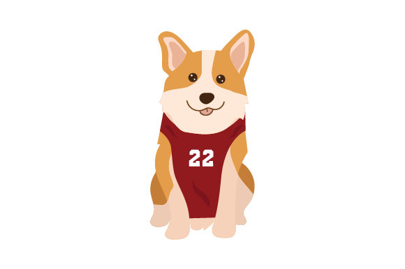 Corgi Wearing Basketball Jersey Hunde Craft Cut File von Creative Fabrica Crafts