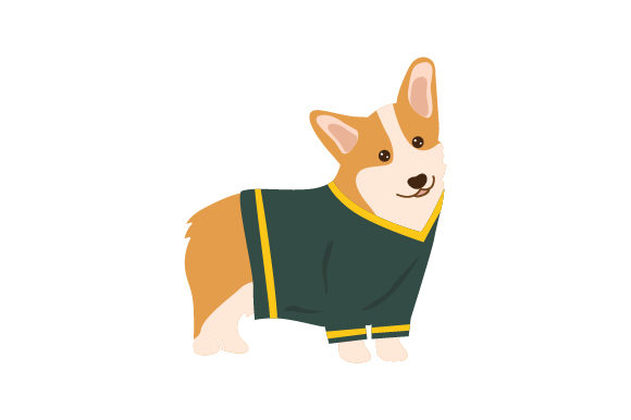 Corgi Wearing Football Jersey Hunde Craft Cut File von Creative Fabrica Crafts