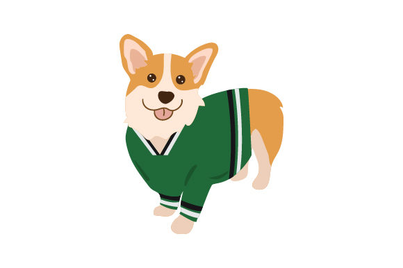 Corgi Wearing Hockey Jersey Hunde Craft Cut File von Creative Fabrica Crafts