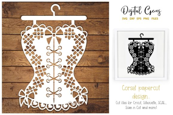 Corset Paper Cut Design Graphic By Digital Gems