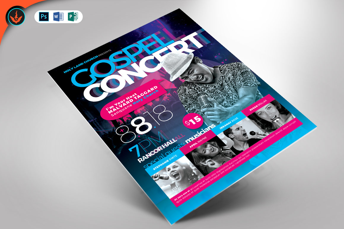 Download Free Cosmic Gospel Concert Flyer Template Graphic By Seraphimchris for Cricut Explore, Silhouette and other cutting machines.