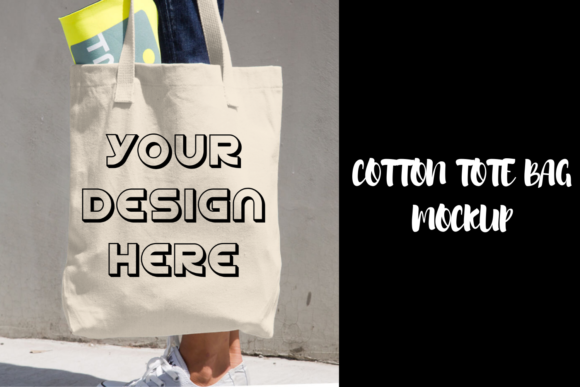 Print on Demand: Cotton Tote Bag Mockup - Realistic Graphic Product Mockups By Mockup Venue
