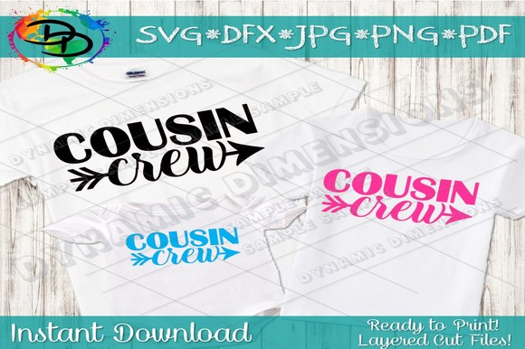 Download Free Cousin Crew Grafico Por Dynamicdimensions Creative Fabrica for Cricut Explore, Silhouette and other cutting machines.