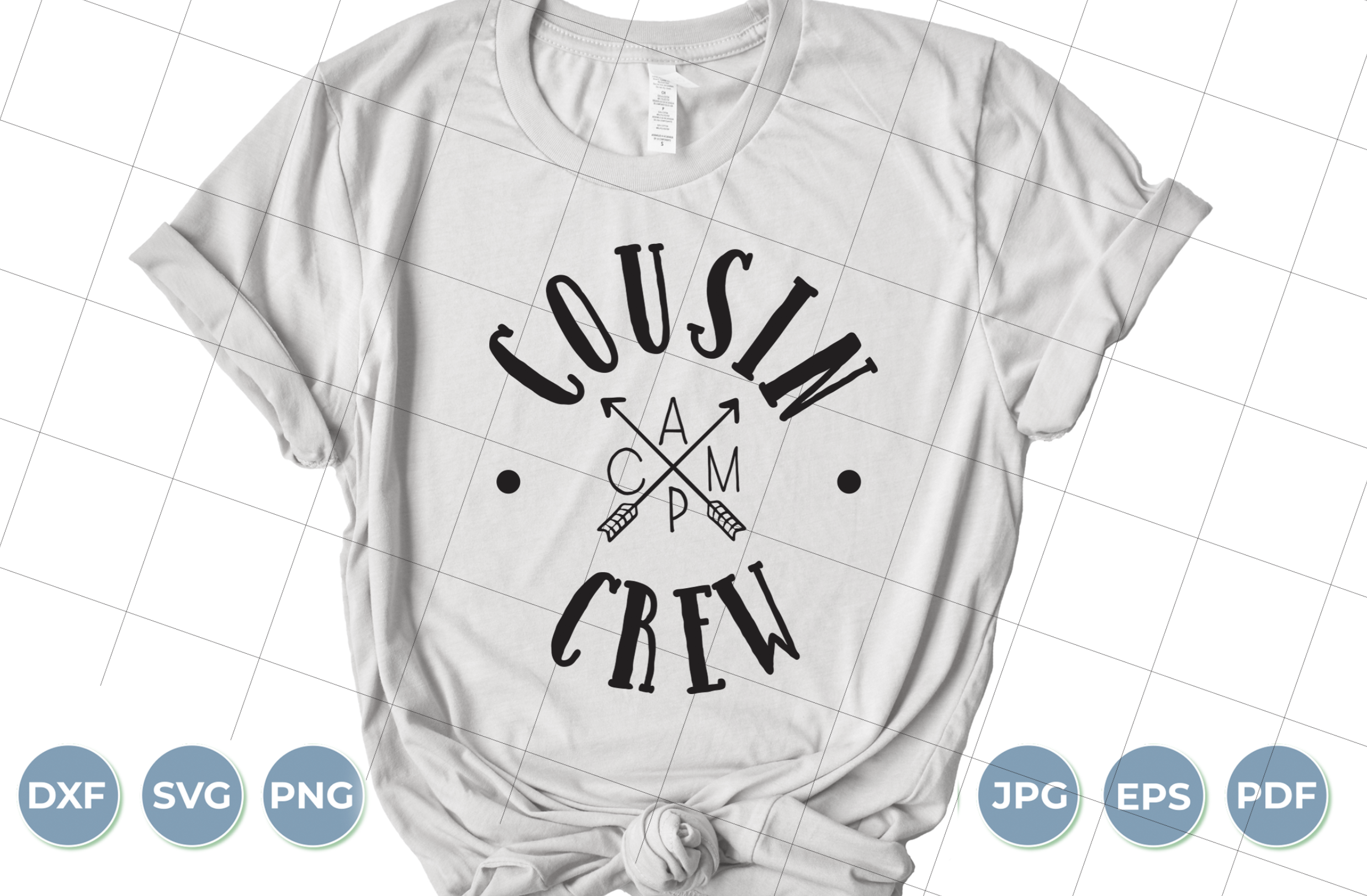 Download Free Cousin Crew Graphic By Luxedesignartetsy Creative Fabrica for Cricut Explore, Silhouette and other cutting machines.