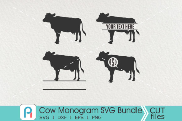 Cow Monogram Svg, Cow Svg, Cow Clip Art Graphic Crafts By Pinoyartkreatib