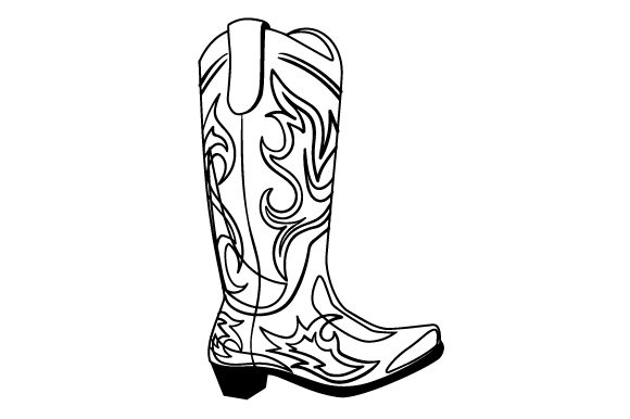 Download Free Cowboy Boot With Blue Decorations Svg Cut File By Creative for Cricut Explore, Silhouette and other cutting machines.