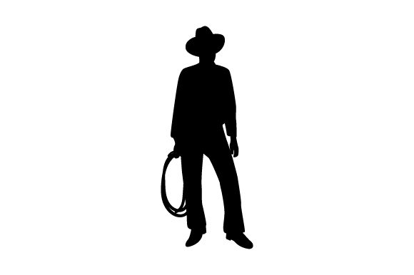 Download Free Cowboy Silhouette Archivos De Corte Svg Por Creative Fabrica for Cricut Explore, Silhouette and other cutting machines.