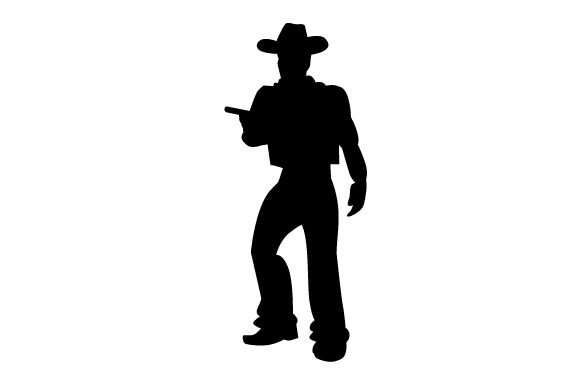 Download Free Cowboy With Gun Silhouette Svg Cut File By Creative Fabrica for Cricut Explore, Silhouette and other cutting machines.