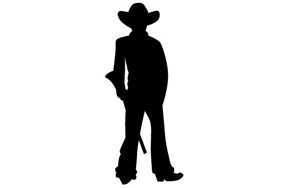 Download Free Cowboy With Shotgun Silhouette Svg Cut File By Creative Fabrica for Cricut Explore, Silhouette and other cutting machines.