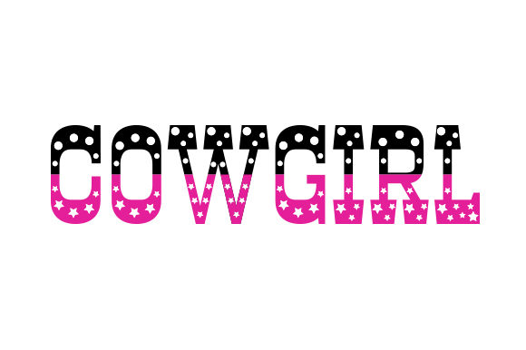 Cowgirl Decorative Text Cowgirl Craft Cut File By Creative Fabrica Crafts - Image 1