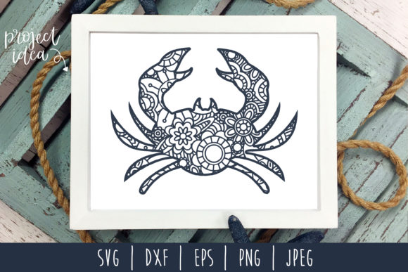 Download Free Crab Mandala Zentangle Graphic By Savoringsurprises Creative for Cricut Explore, Silhouette and other cutting machines.
