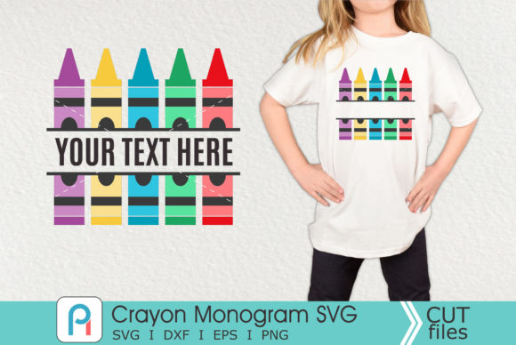 Crayon Monogram Svg, Crayon Svg, Crayon Graphic Crafts By Pinoyartkreatib