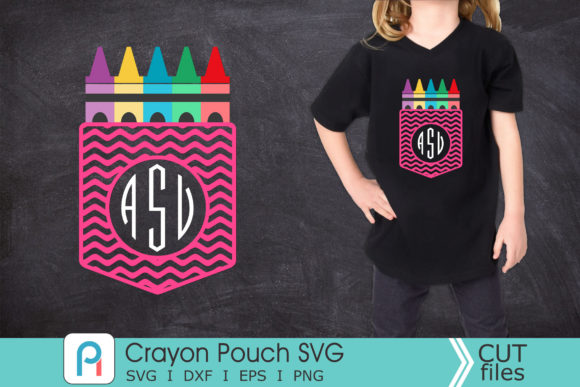 Crayon Svg, Crayon Pouch Monogram Svg Graphic Crafts By Pinoyartkreatib