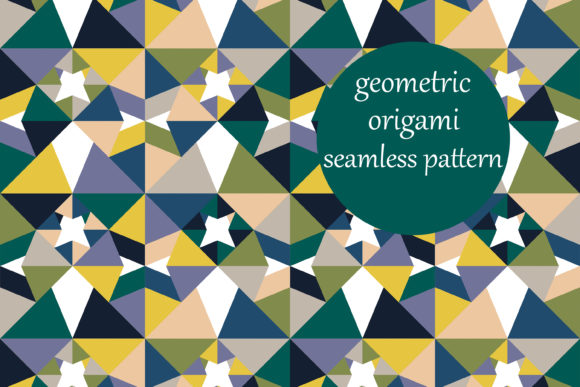 Multicolored Geometric Triangles Pattern Graphic By