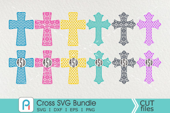 Cross Monogram Svg, Cross Svg, Cross Graphic Crafts By Pinoyartkreatib