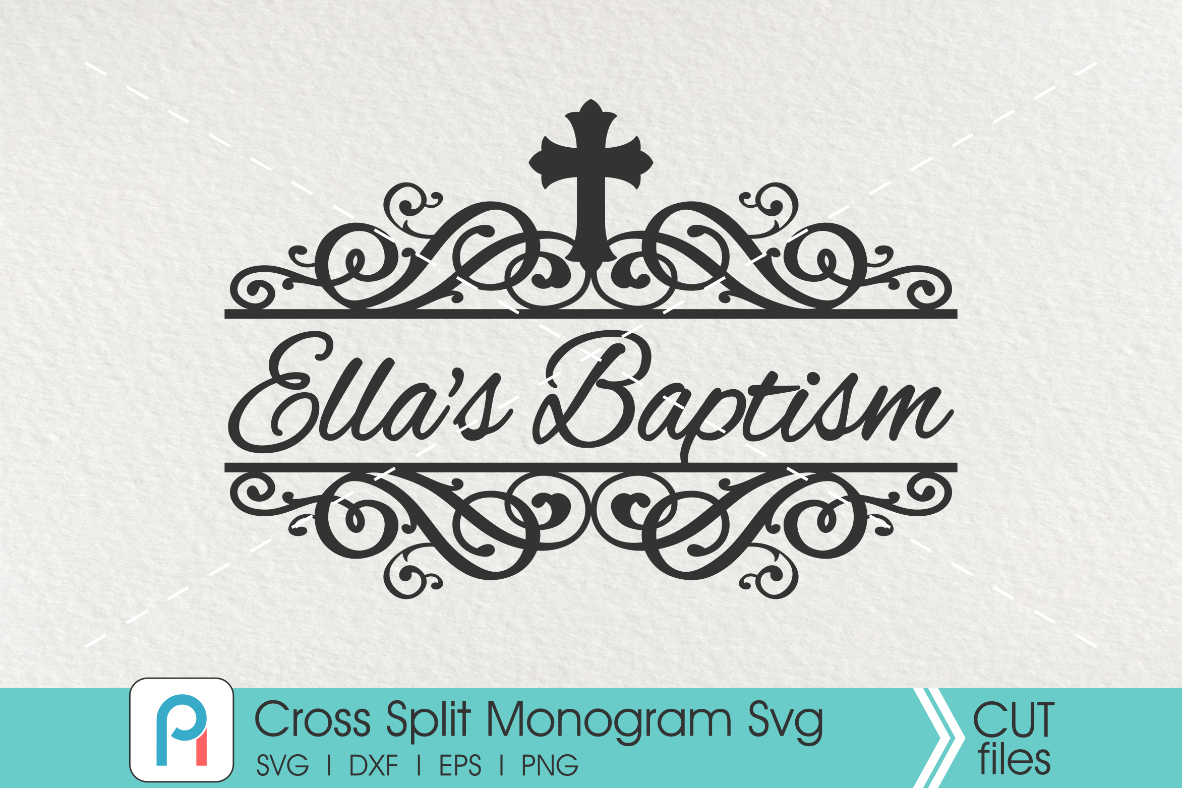 Download Free Cross Monogram Graphic By Pinoyartkreatib Creative Fabrica for Cricut Explore, Silhouette and other cutting machines.