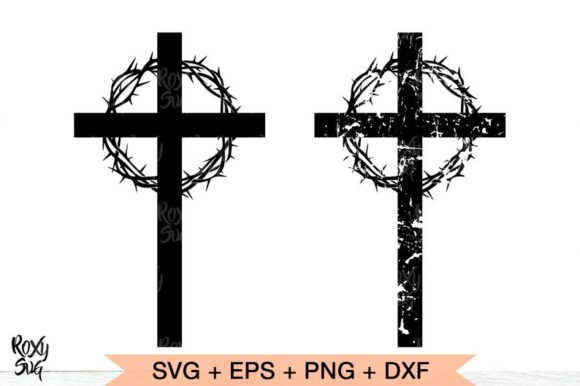 Print on Demand: Cross Silhouette Graphic Crafts By roxysvg26
