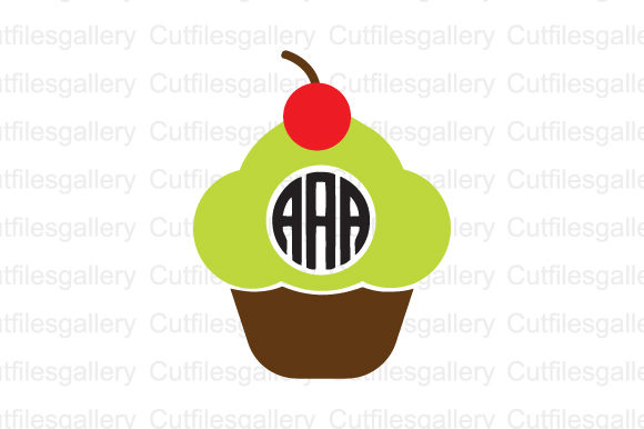 Download Free Cupcake Monogram Graphic By Cutfilesgallery Creative Fabrica for Cricut Explore, Silhouette and other cutting machines.