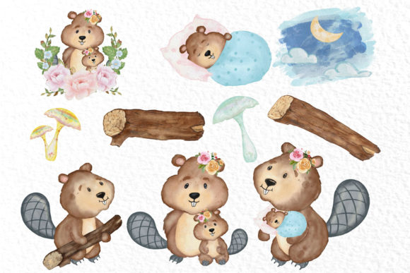 Cute Animals Woodland Animals Graphic Illustrations By vivastarkids - Image 2