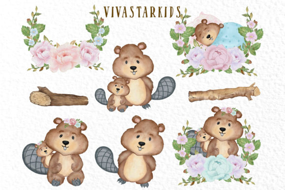 Cute Animals Woodland Animals Graphic Illustrations By vivastarkids - Image 3
