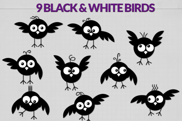 Download Free Cute Birds Silhouettes Graphic By Craft N Cuts Creative Fabrica SVG Cut Files