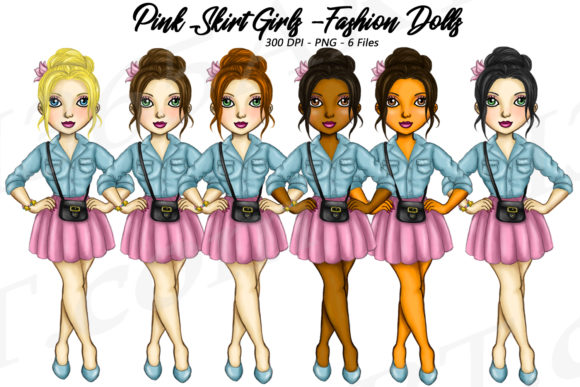 Cute Casual City Fashion Girls Graphic Illustrations By Deanna McRae