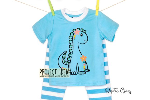Cute Dinosaur Graphic Crafts By Digital Gems - Image 3