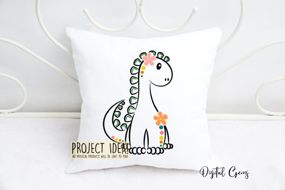 Cute Dinosaur Graphic Crafts By Digital Gems - Image 4