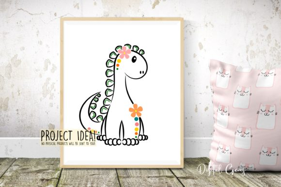 Cute Dinosaur Graphic Crafts By Digital Gems - Image 5