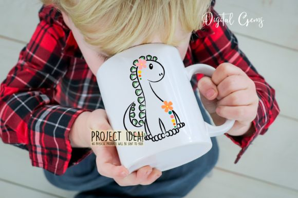 Cute Dinosaur Graphic Crafts By Digital Gems - Image 6