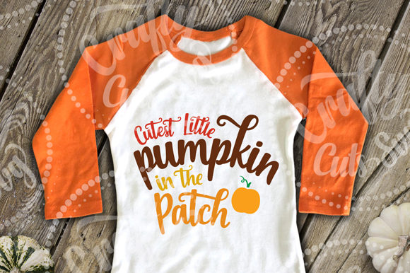 Cutest Little Pumpkin in the Patch Graphic Crafts By Crafty Cuts SVG - Image 2