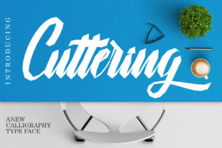 Cuttering Font By Musafir LAB