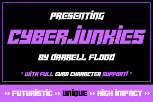 Cyberjunkies Font By Dadiomouse