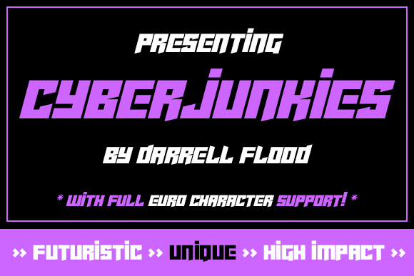 Print on Demand: Cyberjunkies Display Font By Dadiomouse